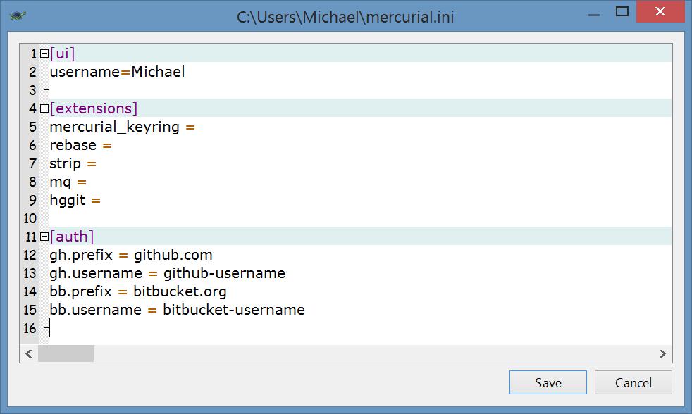 How to use TortoiseHg | Michael's Blog